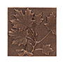 "Whitehall Maple Leaf Wall Art, Antique Copper Colored, 8""W"