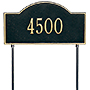 Whitehall Two-Sided Arch Lawn Marker, Standard, 1 Line