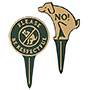 Whitehall Dog Lawn Markers Set, Green/Gold