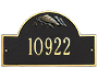 Whitehall Flag Arch Wall Plaque, Standard, 1 Line