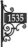Whitehall Ironwork Reflective Address Sign and Post