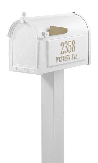 Whitehall Personalized Mailbox Package White At Bestnest Com