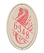 Whitehall Seahorse Ceramic Vertical Wall Plaque, Std, 1 Line