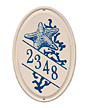 Whitehall Starfish Ceramic Oval Wall Plaque, Std, 1 Line