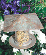 Whitehall Pinecone Tube Bird Feeder, Copper Verdi