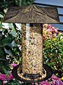 Whitehall Pinecone Large Tube Bird Feeder, French Bronze