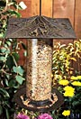 Whitehall Trumpet Vine Large Tube Bird Feeder, French Bronze