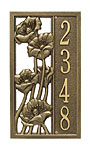 Whitehall Flowering Poppies Vertical Wall Plaque, 1 Line