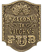 "Whitehall ""Pub Welcome"" Wall Plaque, Standard, 1 Line"