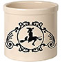 Whitehall Witch on a Broom Halloween Stoneware Crock