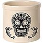 Whitehall Sugar Skull Halloween Stoneware Crock