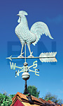 Whitehall Copper Rooster Weathervane, Verdigris