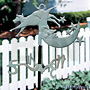 Whitehall Cow Over The Moon Garden Weathervane, Verdigris