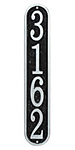 Whitehall Fast and Easy Vertical Wall Plaque, Black/Silver